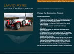 David Ayre Vintage Car Restoration website